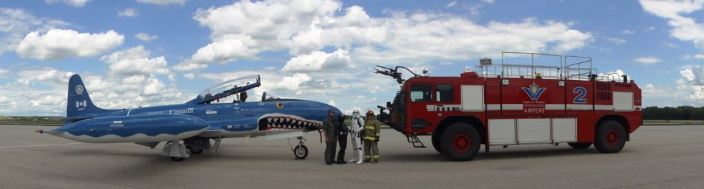 Aviation Fun Day - Waterloo Warbird Mako Shark and Airport Fire Truck